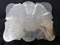 ANTIQUE AMERICAN TURNER FOLK ART COIN SILVER BELT BUCKLE POSSIBLE CIVIL WAR MAAS