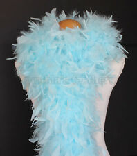 Aqua Blue 80 Grams Chandelle Feather Boa Dance Party Halloween Costume
