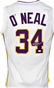 "SHAQUILLE ""SHAQ"" O'NEAL  SIGNED CUSTOM L.A. WHITE  JERSEY, JSA  COA #WIT160591"