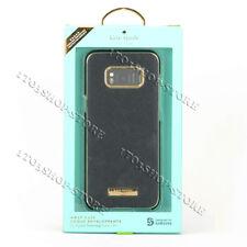Kate Spade Samsung Galaxy S8+ Plus Wrap Hard Snap Case Saffiano Black Gold NEW