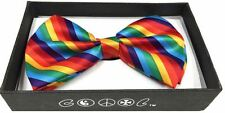 New GAY PRIDE RAINBOW FLAG Lesbian Bisexual LGBT Tuxedo  Bow Tie  USA Seller