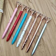 Fashion Crystal Diamond Head Metal Pens Ballpoint School Office Stationery Gift-