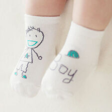 Hot Toddler Unisex Cotton Socks Cute Baby Kid Girls Boys Anti-Slip Shoes Cartoon