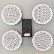 Bluetooth Ceiling Speakers Waterproof 4 Speaker Stereo Kit 100 Watts (S50LW)
