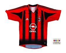 AC Milan 2004/05 Home Soccer Jersey Small Adidas Serie A