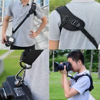 1 PC Quick Rapid Sling Belt Neck Shoulder Strap For DSLR SLR Camera Black