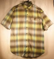 Men's Columbia Omni-Shade Sun Protection S/S Button Down Vented Shirt Green sz M
