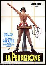 LA PERDIZIONE MANIFESTO CINEMA KEN RUSSELL NAZI 1974 MAHLER MOVIE POSTER 4F