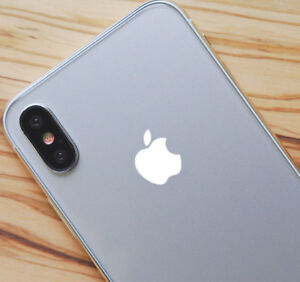 White Color Changer Overlay for Apple iPhone X Logo Vinyl Decal