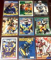 former Los Angeles Rams NFL football card auto autograph LOT John Robinson +more