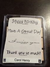 Stampin Up - Vogue Verses - WM Birthday, Miss You, Thank You, 4 Stamps - RETIRED