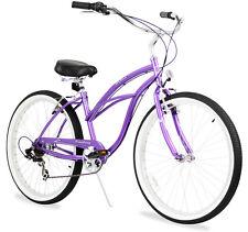 "26"" Beach Cruiser Bike Bicycle Firmstrong Urban women 7 spd purple"