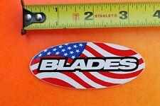BLADES Rollerblade USA Flag Board Shop Skates Vintage INLINE Skating STICKER