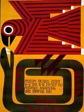 ADVERT EXHIBITION RIETBERG MUSEUM ZURICH BIRD SNAKE ART PRINT POSTER ABB5991B