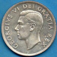 Canada 1952 SWL $1 One Dollar Silver Coin - Choice Uncirculated