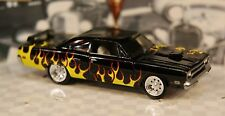 1970 70 Plymouth GTX Custom Flames On Black 1/64 Muscle Car Centerline Tires