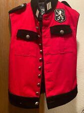 Shrine gothic royal marine red vest military uniform small