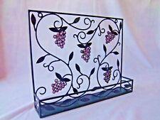 Wall Hanger Wrought Iron Rack Grapes & Vine Design for Spices Oil Vingar Shelf