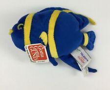 "Gund Telus Blue and Yellow Damsel Fish Plush 4"" tall Stuffed With Tags 46434"