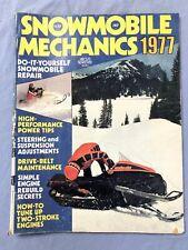 Snowmobile Mechanics Magazine 1977  Vol 5 # 7 Vintage Racing