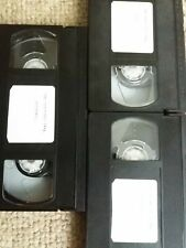 3 Used Vhs Video Cassette Tapes