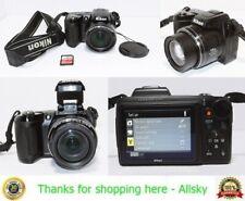 Nikon Coolpix L110 12.1MP Digital Camera, w/ 8GB SD Card【Works!】