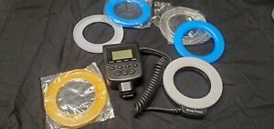 Ring Light/Macro Flash with diffusers dslr slr mirrorless camera strobe as is