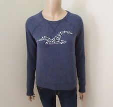 Hollister Womens Logo Sweater Size XS Top Shirt Sweatshirt Rhinestones Bling