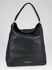 NWT BURBERRY  WOMENS BLACK LEATHER CALE HOBO PURSE BAG