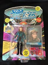 GATES MCFADDEN Signed & Inscribed Star Trek TNG Action Figure DR BEVERLY CRUSHER