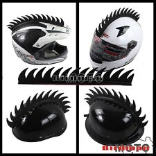 Motorcycle Helmet Dirt Bike Bmx Mohawk Helmets Mohawks Spikes Rubber Sticker