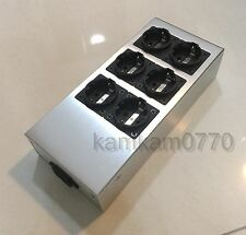 6 Schuko Eu Outlet Mains Power Distributor ABL Sursum socket, Vanguard OCC wire
