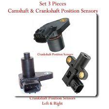 Set 3 Camshaft & Crankshaft Position Sensor Fits: Nissan Maxima & Infinit I30