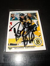 Randy Burridge Boston Bruins Autographed Upper Deck Hockey Card Near Mint 1990