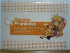 Ranpha Franboise Clear File Folder Galaxy Angel Anime Manga Broccoli New!