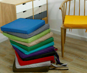 Waterproof Chair Seat Pads Cushions Outdoor Tie On Garden Patio Chair Cushions