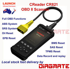 LAUNCH CR821 CReader 8021 Latest OBDII/EOBD Scanner Tool ABS SRS EPB SAS BMS