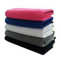 Golf Waffle Towel 14X42 inch Men Women with Hook Player Blue Black Pink White US