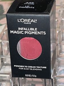 "L'Oreal Infallible Magic Lip Pigments ""448 1st BASE"" Powder-To-Cream Texture NIB"