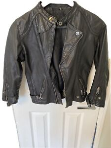 Members only leather moto jacket size XS