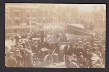 More details for kent dover c1900s? celebration steam traction engine lifeboat & crew rp postcard