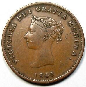 1843 New Brunswick 1/2 Penny