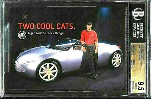 ⛳️2001 Buick Bengal Golf Postcards Tiger Woods ROOKIE RC GOLD BGS 9.5 GEM MINT