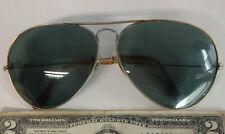 Vintage RAYBAN B&L Bausch & Lomb aviator pilot green / blue sunglasses