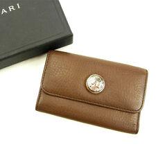 Bvlgari Key holder Key case Brown Woman unisex Authentic Used Y5571