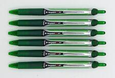 Pilot Hi-tecpoint V5 RT roller pen 6pcs x GREEN colour (BXRT-V5-RT) C