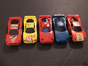 1/43 Slot Car Exotic 5 Car Lot Ferrari F40s For Parts Or Repair