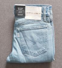 Damen Mädchen Jeans LEVIS LEVI´S Line 8 Mid Rise Skinny Light Stonewash W23 L30