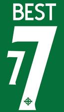 Northern Ireland George Best NameShirt Soccer Number Letter Heat Print Football