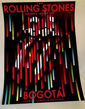 Official Rolling Stones Bogota Columbia Lithograph Poster 2016 Ole' Tour